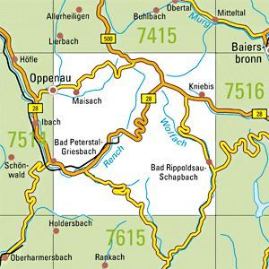 7515 OPPENAU topographische Karte 1:25.000 Baden-Württemberg, TK25