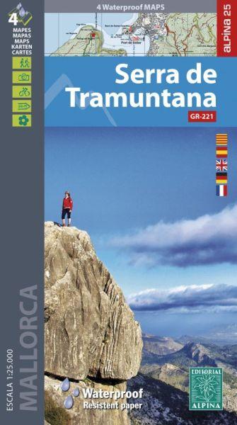 Mallorca: Serra de Tramuntana Wanderkarte 1:25.000 - Editorial Alpina