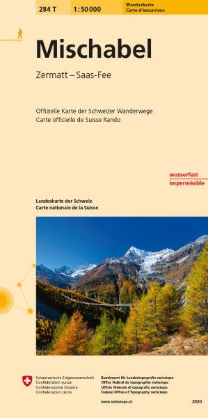 284 T Mischabel Wanderkarte 1:50.000 - Swisstopo