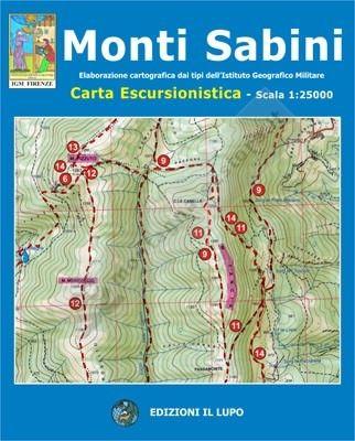 Wanderkarte für Monti Sabini 1:25.000 - Il Lupo Nr. 14