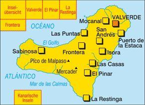 Kompass Karte 242, El Hierro 1:30.000, Wandern, Rad