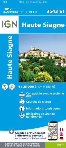 IGN 3543 ET Haute Siagne, Frankreich topographische Wanderkarte 1:25.000