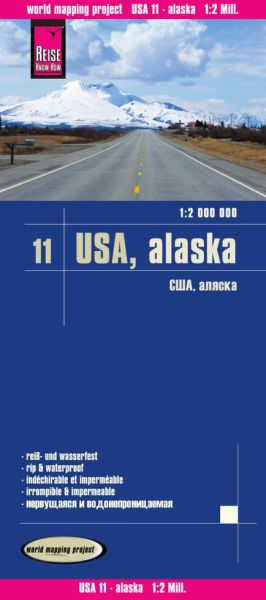 USA 11 Alaska Landkarte 1:2.000.000, Reise Know-How
