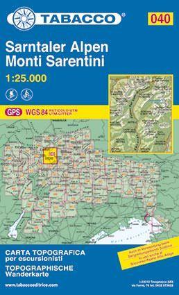 Tabacco 040 Monti Sarentini / Sarntaler Alpen Wanderkarte 1:25.000