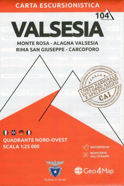 Piemont Wanderkarte: Valsesia Nordwest 1:25.000 – Geo4Map Bl. 4
