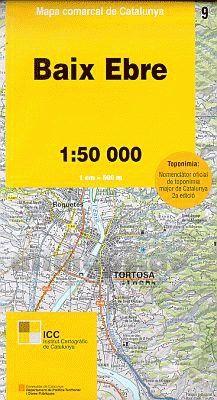Baix Ebre, Katalonien topographische Karte, 1:50.000, ICC 9