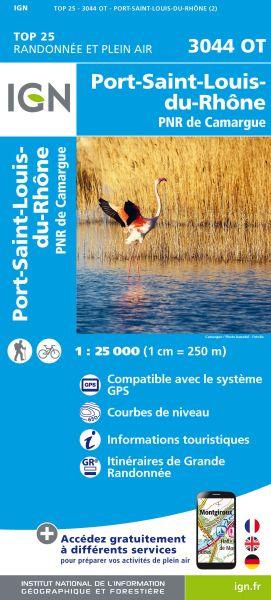 IGN 3044 OT Port St. Louis du Rhone, Frankreich Wanderkarte 1:25.000