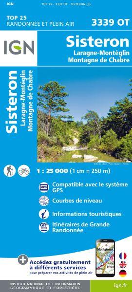 IGN 3339 OT Sisteron, Laragne-Monteglin, Frankreich Wanderkarte 1:25.000