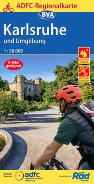 ADFC-Regionalkarte, Karlsruhe und Umgebung Radwanderkarte