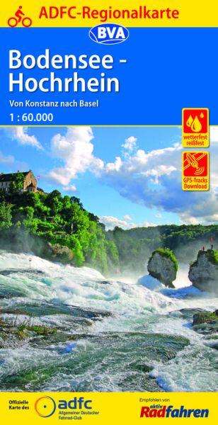ADFC-Regionalkarte, Bodensee - Hochrhein Radwanderkarte 1:60.000 - wetterfest