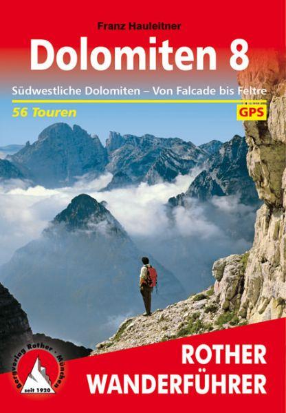 Dolomiten 8, Wanderführer, Rother