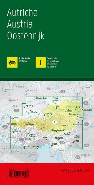 Österreich, Straßenkarte 1:500.000, Freytag und Berndt