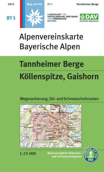 Alpenvereinskarte BY5 Tannheimer Berge Wanderkarte 1:25.000