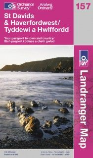 Landranger 157 St David's & Haverfordwest Wanderkarte 1:50.000 - OS / Ordnance Survey