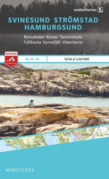 Svinesund - Strömstad - Hamburgsund, Outdoorkartan Blatt 18, Schweden Wanderkarte 1:50.000