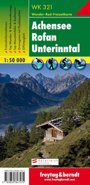 WK 321, Achensee, Rofan, Unterinntal, Wanderkarte 1:50.000, Freytag und Berndt