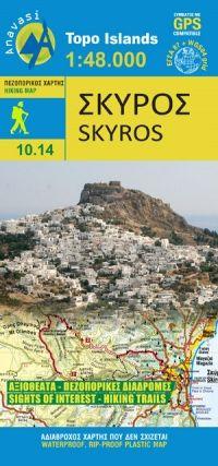 Skyros (Sporaden) Wanderkarte 1:48.000, Anavasi 10.14, Griechenland, wetterfest