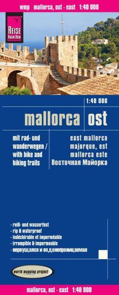Mallorca Ost Landkarte 1:40.000, Reise Know-How