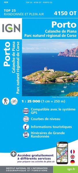 IGN 4150 OT Porto - Calanche de Piana, Korsika Wanderkarte 1:25.000