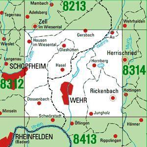 Höhenmeter Karte Deutschland.8313 Wehr Topographische Karte Baden Württemberg Tk25 1 25000