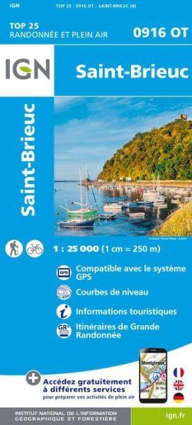 IGN 0916 OT St-Brieuc, Frankreich Wanderkarte 1:25.000