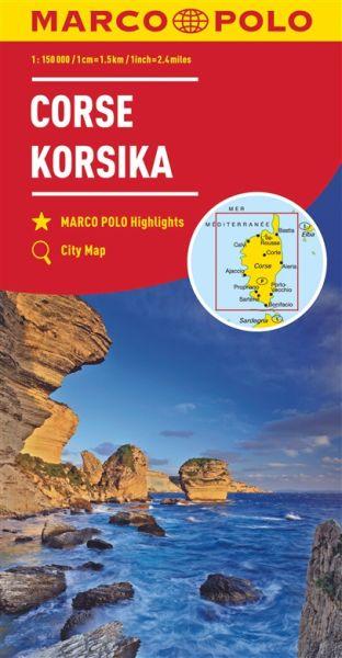 Korsika, Straßenkarte 1:150.000, Marco Polo