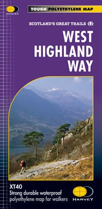 West Highland Way Wanderkarte 1:40.000, Harvey Maps