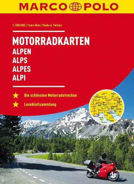 Ringbuch Motorradkarten Alpen 1:300.000, Marco Polo