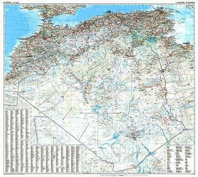GIZI Länderkarte Algerien, Posterkarte 99 cm x 88 cm