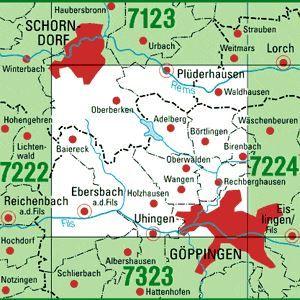 7223 GÖPPINGEN topographische Karte 1:25.000 Baden-Württemberg, TK25