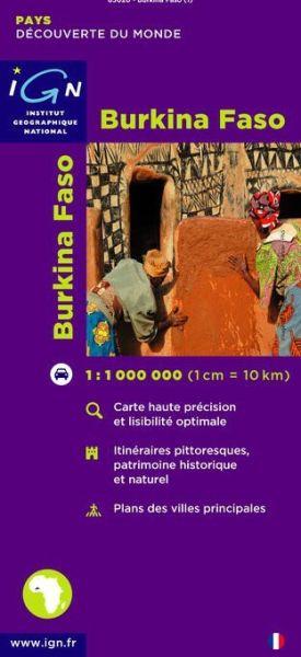 Burkina Faso, Straßenkarte 1:1.000.000, IGN