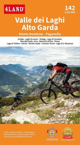 Valle dei Laghi Alto Garda, Trentino topographische Bikekarte 1:25.000