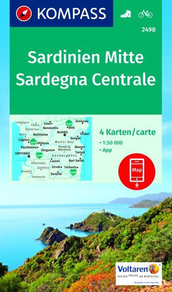 Kompass Karte 2498 Sardinien Mitte Wander- und Radkarte 1:50.000