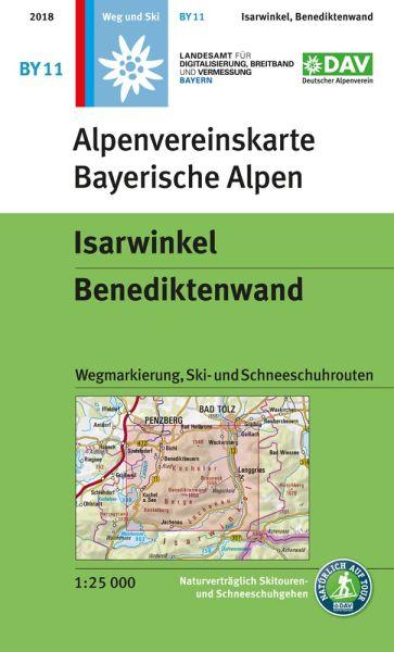 Alpenvereinskarte BY11 Isarwinkel Wanderkarte 1:25.000