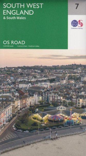 OS Straßenkarte 7 South West England, 1:250.000, Ordnance Survey