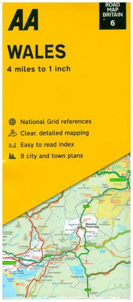 AA Straßenkarte Blatt 6, Wales 1:250.000