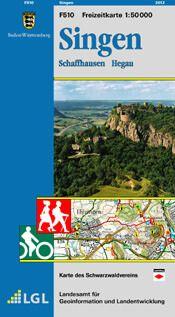 Singen Freizeitkarte in 1:50.000 - F510 mit Rad- und Wanderwegen