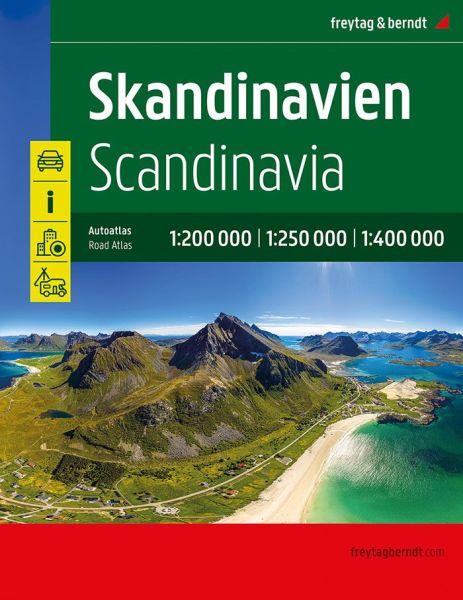 Skandinavien Straßenatlas, 1:250.000/1:400.000, Freytag und Berndt