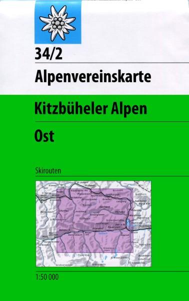 DAV Alpenvereinskarte 34/2 Kitzbüheler Alpen Ost, Skikarte 1:50.000