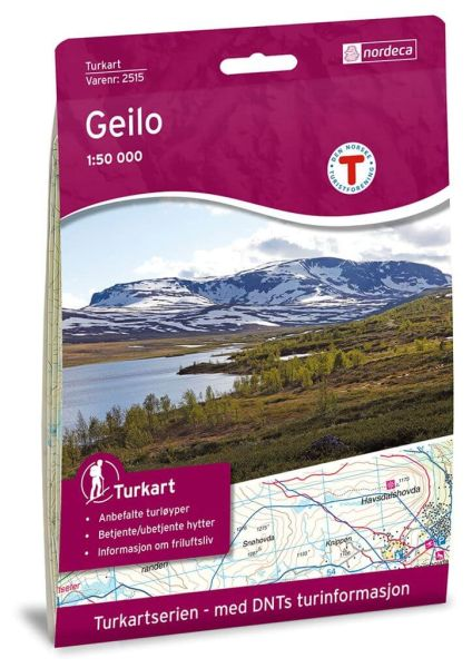 Geilo Wanderkarte 1:50.000 – Norwegen, Turkart 2515 von Nordeca