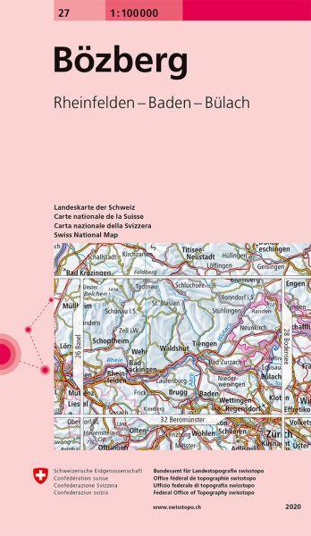 27 Bözberg topographische Karte Schweiz 1:100.000