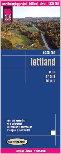 Lettland Landkarte 1:325.000, Reise Know-How