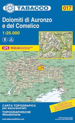 Tabacco 017 Dolomiti di Auronzo e del Comelico Wanderkarte 1:25.000