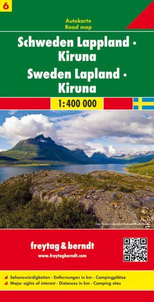 Schweden, Lappland, Straßenkarte 1:400.000, Freytag und Berndt