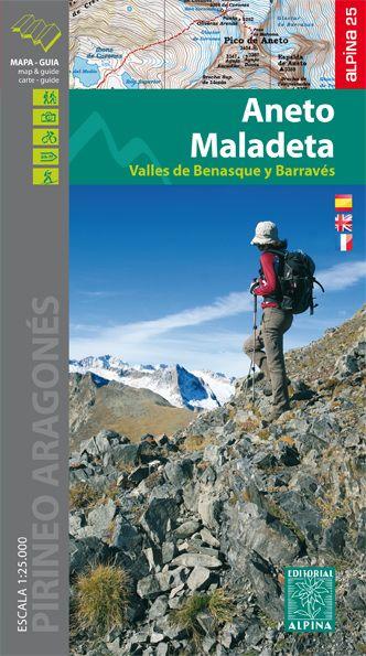 Aneto - Maladeta Wanderkarte 1:25.000 - Editorial Alpina