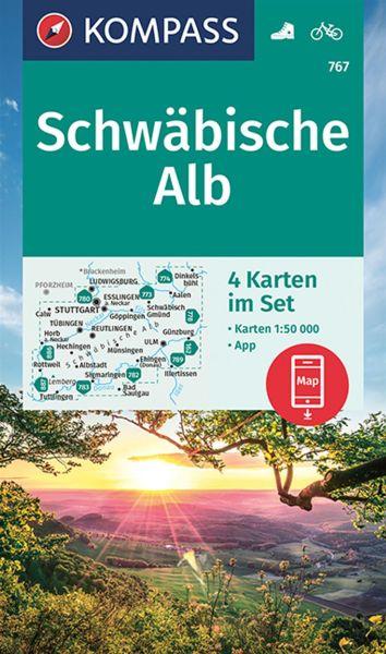 Kompass Karten Set 767, Schwäbische Alb 1:50.000, Wandern