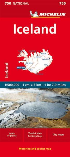 Michelin National 750 Island Straßenkarte 1:500.000