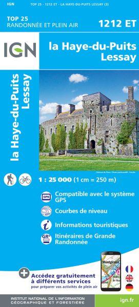 IGN 1212 ET Haye du Puits, Lessay, Frankreich Wanderkarte 1:25.000