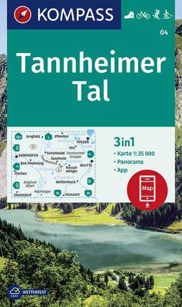 Tannheimer Tal Karte.Kompass Karte 04 Tannheimer Tal 1 35 000 Wandern Rad Fahren