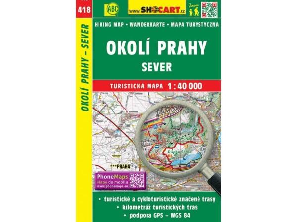 Prag Umgebung - Nord Wanderkarte 1:40.000 - SHOCart 418